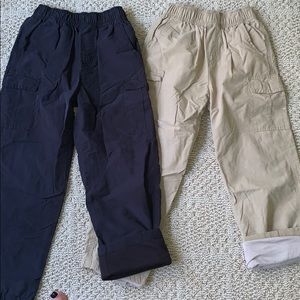 Wes and Willy lined pull on cargo pants.  Size 7